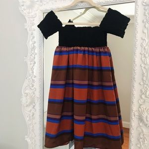SALE STRIPED Babydoll Dress